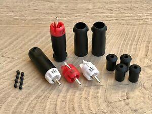 KLEI Classic Harmony Plug 4 Cinch-Stecker EICHMANN KLE silver plated Bullet