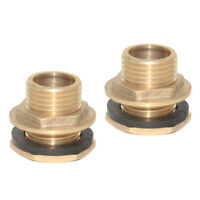 """2pcs 1/2"""" Hose Tube Connector Plumbing Pipe Fitting for Water Tank"""