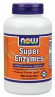 NOW Super Enzymes Supports Healthy Digestion - 180 Capsules Exp. 12/2022
