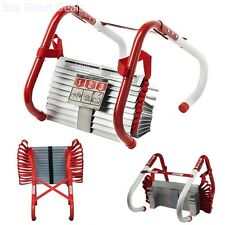 Portable Emergency Fire Escape Ladder Rope Metal Life Home Window 2 Story Safety