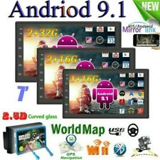 "7"" Android 9.1 GPS Navi 2DIN Autoradio WIFI Bluetooth Link specchio 1G+16G"