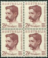 Australia 1949 SG231 2½d Henry Lawson block MNH