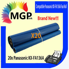 20 GENERIC FAX FILM ROLLS FA136A FA136 KX-FA136A For PANASONIC KX-FP278 KX-FP258