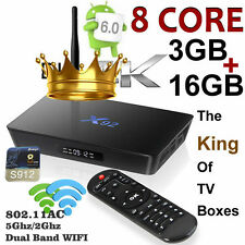 X92 Octa Core Amogic S912 Android 6.0 3G/16G Smart TV Box Dual Band 5Ghz WIFI US