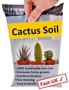 1-22 Litres Premium Cactus Potting Soil Compost blocks for Cacti & Succulents