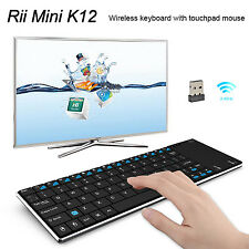 Rii K12+ RF Mini Wireless Keyboard Touch Pad for KODI Raspberry Pi Box UK Layout
