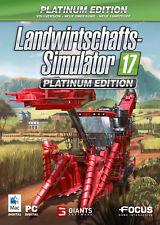 PC Spiel Landwirtschafts-Simulator 17: Platinum Edition DVD Versand NEUWARE