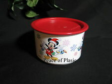 Tupperware NEW Disney Christmas Mickey Minnie Mouse Canister / Container