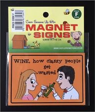 NEW FUNNY HUMOROUS WINE  DRINKING MAGNET CARAVAN CAMPER FRIDGE AND FREEZER CAMP