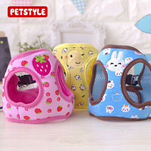 Pet Dog Cartoon Harness Dog Protective Traction Vest Puppy Cat Leash Set