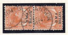 Malaya GVI 1945 Early Issue Fine Used 2c. Orange Postmark Teluk 119107