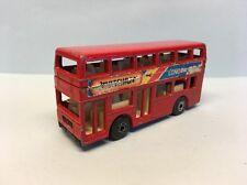 Diecast Matchbox London Bus Red Wear & Tear Good Condition