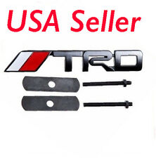 New 3D Metal Matt Black TRD Front Grille Grill Badge Emblem Fit for Toyota AN