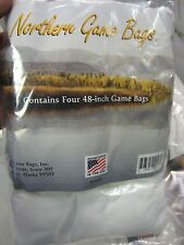 """4 Northern Form Fitting Game Bags 48"""" Quarter Size / Hunting Deer Sheep Antelope"""