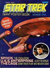 Star Trek Giant Poster Book Magazine Voyage One February 1977