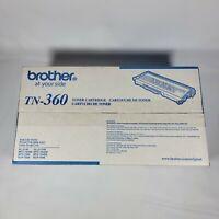 NEW SEALED GENUINE BROTHER TN-360 High Yield BLACK PRINTER Toner Cartridge INK