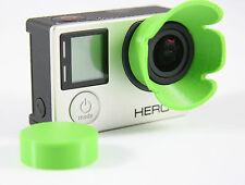 Sonnenblende Lens Hood GoPro Go Pro HERO 3+, 4  Linse Sun Shade grün green