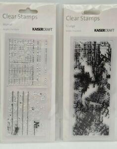 KaiserCraft 2 x JOURNAL GRUNGE Clear Stamps - 5cm x 13cm each