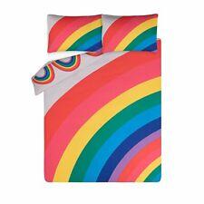 NEW! Rainbow Print Double Reversible Duvet Cover Set