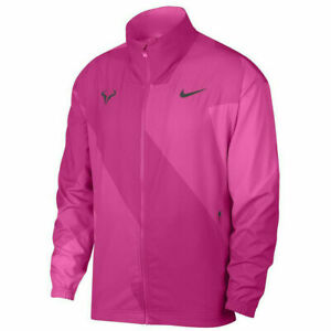 NEW NWT Nike Rafa Tennis Jacket Laser Fuchsia Pink Thunder Grey AJ8257-686 SZ XS
