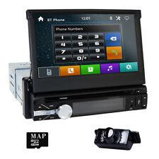 "Reverse Camera +1 Din 7"" In dash Deck Car Stereo DVD Player Ipod BT Radio SD TV"