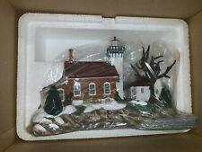 Harbor Lights Lighthouse Winter's Choice 2001 Sherwood Point Wisconsin 265 W/Coa