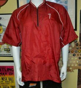Mens Large Mizuno Pullover Baseball Batting Practice Jersey Red #7 Nice