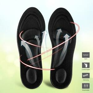 Men Orthotic Insoles Flat Feet Arch Support Memory Foam Insole Shoe Pad Black