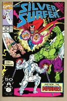 Silver Surfer #58-1991 nm- 9.2 Defenders Infinity Gauntlet