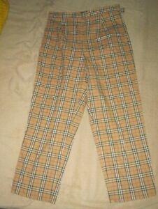 Burberry Golf Nova Check Cropped Trousers UK 12