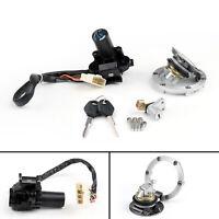 Ignition Switch Seat Gas Cap Cover Lock Key Set for Kawasaki EX/Ninja 250R/300/A