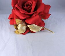 Vintage Coro Gold tone Classic Flower Pin Brooch  CAT RESCUE