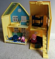 Peppa Pig Deluxe Fold Up House Playset Toys Figures Furniture Bundle
