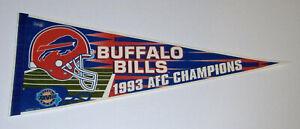 1993 Buffalo Bills AFC Champs pennant Super Bowl XXVIII Jim Kelly Original SB 28