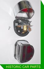 2 Lucas Style D shape RED Stop/Tail Number Plate Lamps for STANDARD 8 hp 1946-48