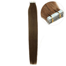 "7A Tape In Remy Human Hair Extension PU Skin Weave 16""18""20""22""24""26"" India hair"