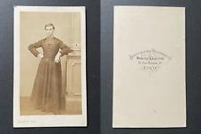 Leauté, Paris, Très jeune prêtre en soutane, circa 1860 vintage cdv albumen prin