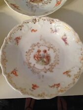 Antique Porcelain Dessert Fruit  Dish Putti  Cherub  Victorian  Ladies - German