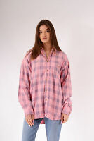 Vintage Checked Flannel Shirt Pink (L)