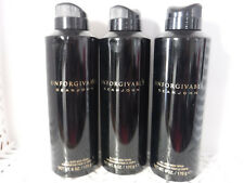 3 Sean John UNFORGIVABLE  Body Spray 6 oz Each Mens (960)