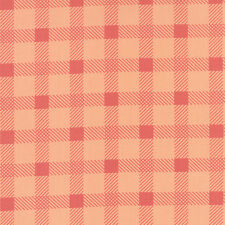 "Little Miss Sunshine Peach Plaid  Moda Quilt Fabric 54"" remnant"
