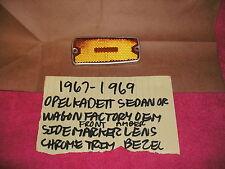 1967-1969 OPEL KADETT COUPE OR WAGON OEM FRONT SIDE MARKER LENS CHROME BEZEL