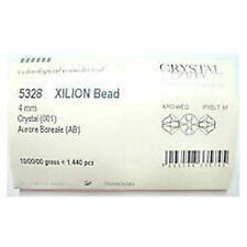 1440 Swarovski 5328 / 5301 4mm Full Factory PACK Crystal AB Xilion Bicone Beads