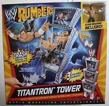 WWE Rumblers, Titantron Tower, Crash through the titantrons! EVAN BOURNE figure