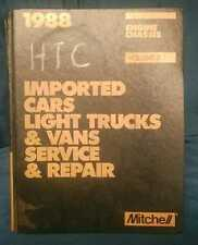 1988 Mitchell Imported Cars Light Trucks Vans Service  Repair Manual