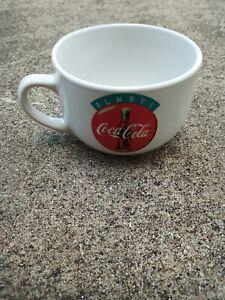 ALWAYS COCA-COLA • Soup Mug Gibson Bowl Ceramic w/ Handle Red White Logo Bowl
