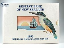 *** Dollar KMS NEUSEELAND 1993 BU KINGFISHER New Zealand Kursmünzensatz Coin Set