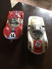 Vintage 1/24 Carerra Porsche And Ferrari Slot cars