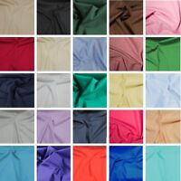 Superior Plain Polycotton Fabric Indonesian Quality 97gsm Material Dress Craft