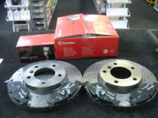 BMW E90 E91 E92 E81 E87 300MM REAR BREMBO BRAKE DISCS DRILLED GROOVED BREMBO PAD